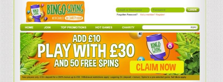 Bingo-Giving-banner